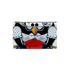 Grandma Penguin Cosmetic Bag (small)  by Nexatart