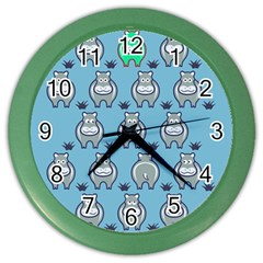 Funny Cow Pattern Color Wall Clocks