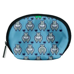 Funny Cow Pattern Accessory Pouches (medium)  by Nexatart