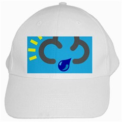 Light Rain Shower Cloud Sun Yellow Blue Sky White Cap by Mariart
