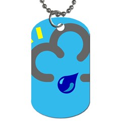 Light Rain Shower Cloud Sun Yellow Blue Sky Dog Tag (two Sides) by Mariart