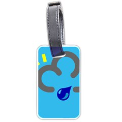 Light Rain Shower Cloud Sun Yellow Blue Sky Luggage Tags (two Sides) by Mariart