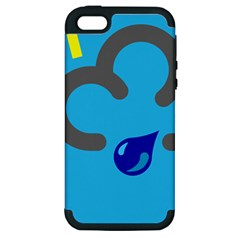 Light Rain Shower Cloud Sun Yellow Blue Sky Apple Iphone 5 Hardshell Case (pc+silicone) by Mariart