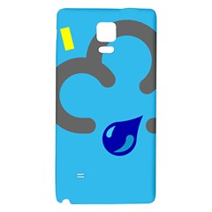 Light Rain Shower Cloud Sun Yellow Blue Sky Galaxy Note 4 Back Case by Mariart