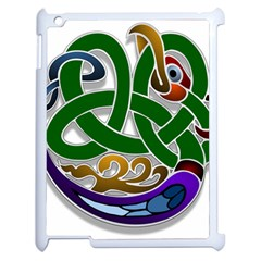 Celtic Ornament Apple Ipad 2 Case (white) by Nexatart