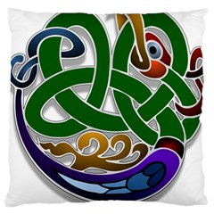 Celtic Ornament Large Cushion Case (two Sides)