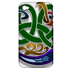 Celtic Ornament Apple Iphone 4/4s Hardshell Case (pc+silicone)