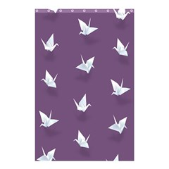 Goose Swan Animals Birl Origami Papper White Purple Shower Curtain 48  X 72  (small)  by Mariart