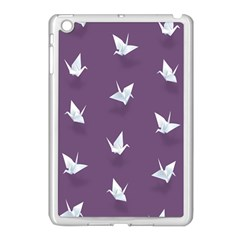 Goose Swan Animals Birl Origami Papper White Purple Apple Ipad Mini Case (white) by Mariart