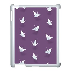 Goose Swan Animals Birl Origami Papper White Purple Apple Ipad 3/4 Case (white) by Mariart