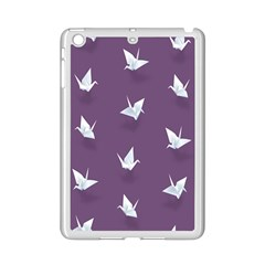 Goose Swan Animals Birl Origami Papper White Purple Ipad Mini 2 Enamel Coated Cases by Mariart