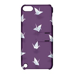 Goose Swan Animals Birl Origami Papper White Purple Apple Ipod Touch 5 Hardshell Case With Stand by Mariart