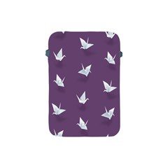 Goose Swan Animals Birl Origami Papper White Purple Apple Ipad Mini Protective Soft Cases by Mariart