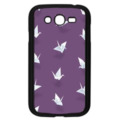 Goose Swan Animals Birl Origami Papper White Purple Samsung Galaxy Grand Duos I9082 Case (black) by Mariart