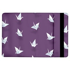 Goose Swan Animals Birl Origami Papper White Purple Ipad Air Flip