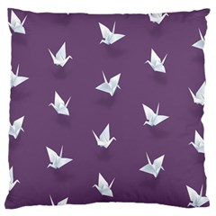 Goose Swan Animals Birl Origami Papper White Purple Standard Flano Cushion Case (one Side)