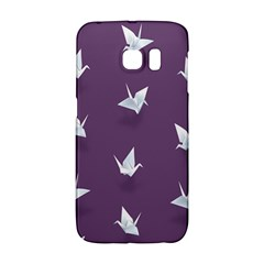 Goose Swan Animals Birl Origami Papper White Purple Galaxy S6 Edge by Mariart