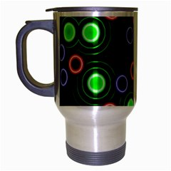 Neons Couleurs Circle Light Green Red Line Travel Mug (silver Gray) by Mariart