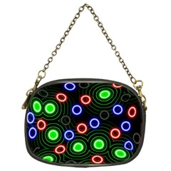 Neons Couleurs Circle Light Green Red Line Chain Purses (two Sides)  by Mariart