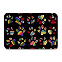 Colorful Paw Prints Pattern Background Reinvigorated Plate Mats by Nexatart