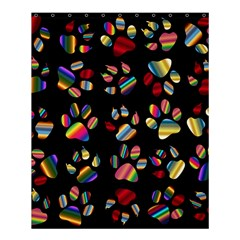 Colorful Paw Prints Pattern Background Reinvigorated Shower Curtain 60  X 72  (medium)
