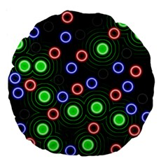 Neons Couleurs Circle Light Green Red Line Large 18  Premium Flano Round Cushions by Mariart