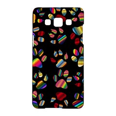 Colorful Paw Prints Pattern Background Reinvigorated Samsung Galaxy A5 Hardshell Case  by Nexatart