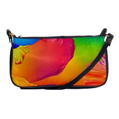 Paint Rainbow Color Blue Red Green Blue Purple Shoulder Clutch Bags by Mariart