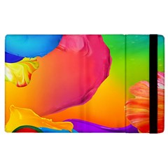 Paint Rainbow Color Blue Red Green Blue Purple Apple Ipad 2 Flip Case by Mariart
