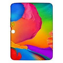 Paint Rainbow Color Blue Red Green Blue Purple Samsung Galaxy Tab 3 (10 1 ) P5200 Hardshell Case