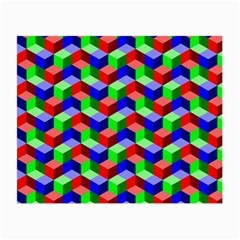 Seamless Rgb Isometric Cubes Pattern Small Glasses Cloth (2 Side) by Nexatart