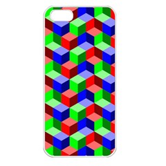 Seamless Rgb Isometric Cubes Pattern Apple Iphone 5 Seamless Case (white)