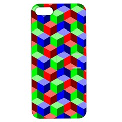 Seamless Rgb Isometric Cubes Pattern Apple Iphone 5 Hardshell Case With Stand by Nexatart