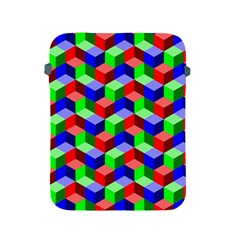 Seamless Rgb Isometric Cubes Pattern Apple Ipad 2/3/4 Protective Soft Cases by Nexatart