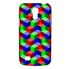 Seamless Rgb Isometric Cubes Pattern Galaxy S4 Mini by Nexatart