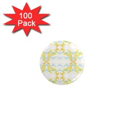 Crane White Yellow Bird Eye Animals Face Mask 1  Mini Magnets (100 Pack)  by Mariart