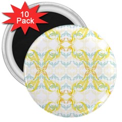 Crane White Yellow Bird Eye Animals Face Mask 3  Magnets (10 Pack)  by Mariart