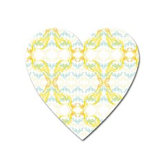 Crane White Yellow Bird Eye Animals Face Mask Heart Magnet by Mariart