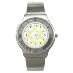 Crane White Yellow Bird Eye Animals Face Mask Stainless Steel Watch