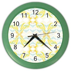 Crane White Yellow Bird Eye Animals Face Mask Color Wall Clocks by Mariart