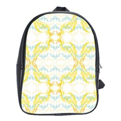 Crane White Yellow Bird Eye Animals Face Mask School Bags(large)