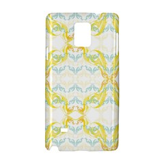 Crane White Yellow Bird Eye Animals Face Mask Samsung Galaxy Note 4 Hardshell Case by Mariart