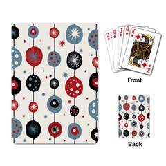 Retro Ornament Pattern Playing Card by Nexatart