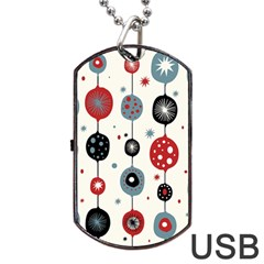 Retro Ornament Pattern Dog Tag Usb Flash (one Side)