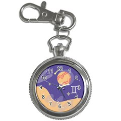 Planet Galaxy Space Star Polka Meteor Moon Blue Sky Circle Key Chain Watches by Mariart