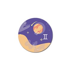 Planet Galaxy Space Star Polka Meteor Moon Blue Sky Circle Golf Ball Marker (4 Pack) by Mariart