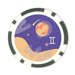 Planet Galaxy Space Star Polka Meteor Moon Blue Sky Circle Poker Chip Card Guard by Mariart