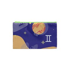 Planet Galaxy Space Star Polka Meteor Moon Blue Sky Circle Cosmetic Bag (xs) by Mariart