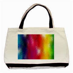 Color Glass Rainbow Green Yellow Gold Pink Purple Red Blue Basic Tote Bag (two Sides) by Mariart