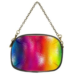 Color Glass Rainbow Green Yellow Gold Pink Purple Red Blue Chain Purses (two Sides)